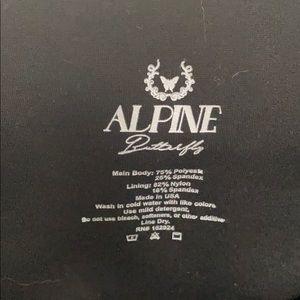 Alpine Butterfly Black Flare Pants